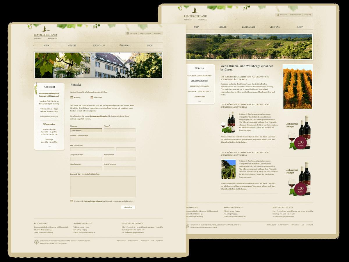 Rosswag Webseite