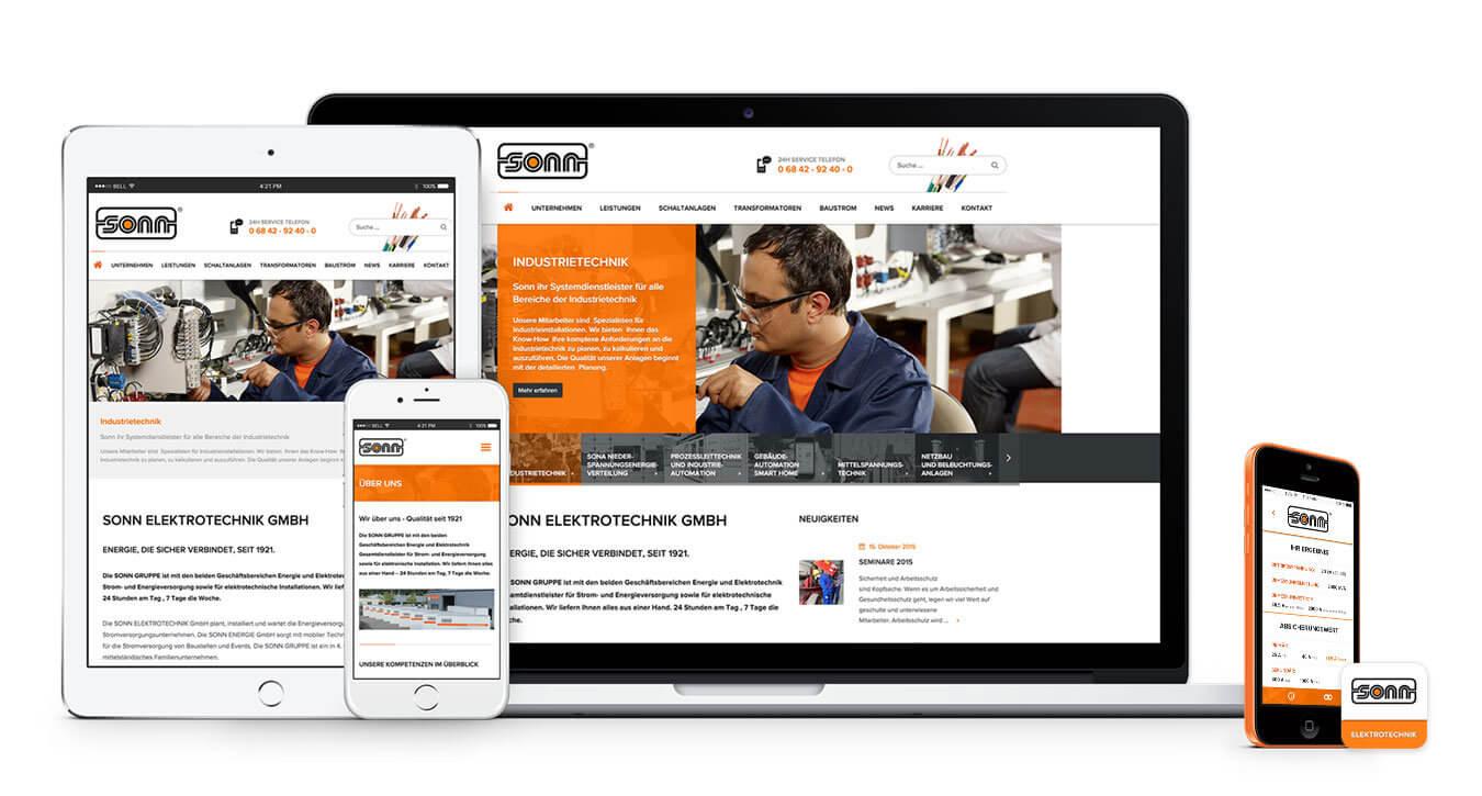 Respsonsive Webseite und App